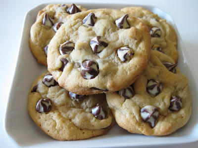 close-up photo of Soft chocolate chip cookies