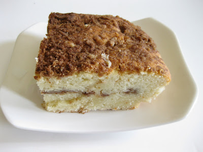 photo of a slice of coffee cake