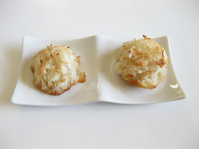 photo of two macaroons on a plate