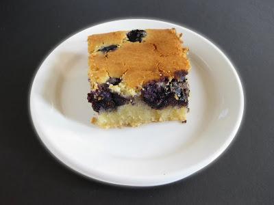 close-up photo of a slice of mochi cake