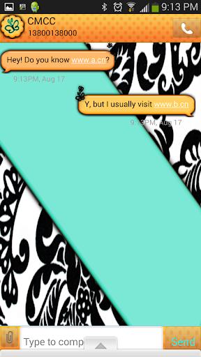 GO SMS THEME TealOrange