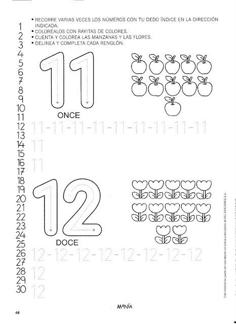 Fichas Preescolar Con Numeros 2