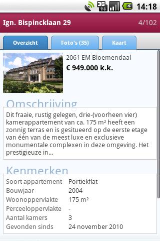 HuizenZoeker - screenshot