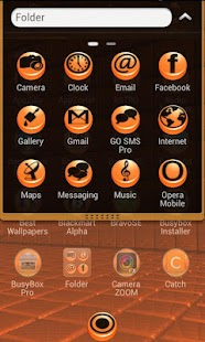 BlackOrange Go Launcher Theme - screenshot thumbnail