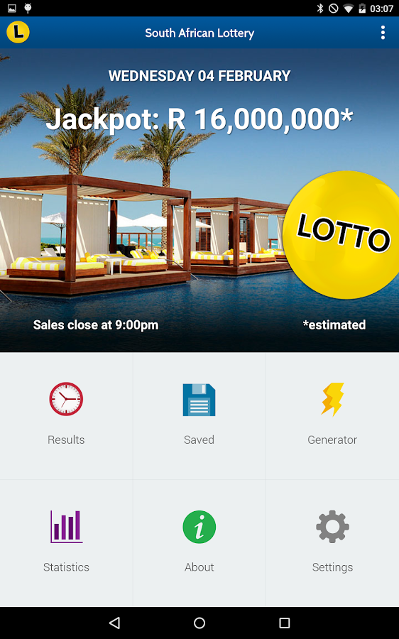 sa lotto powerball results android apps on google play. Black Bedroom Furniture Sets. Home Design Ideas