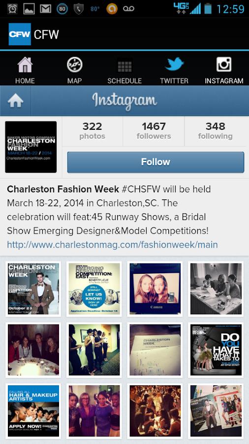 Charleston Fashion Week- screenshot