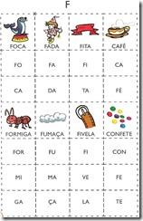 jogo das sílabas F