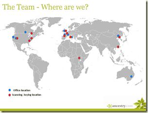 2009年5月的Ancestry.com地点地图