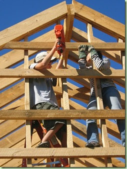 The Ancestry Insider: Old fashioned barn raising at ...