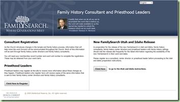 Froundsearch顾问登记页面的屏幕截图