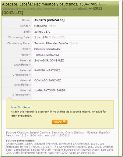 阿尔巴塞特,西班牙incestry.com