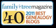 据读者和家庭树杂志称,祖先的Insider是2011年的40年最佳家谱博客之一
