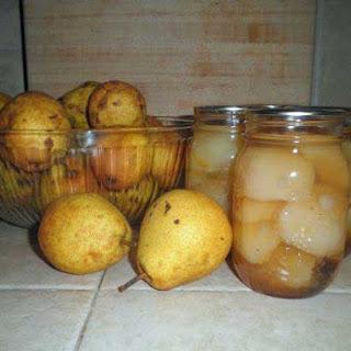 Spirited Vanilla Pears