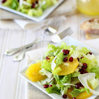 Lettuce with Oranges, Fennel and Pomegranate