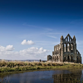 Here is a photograph I took of Whitby Abbey.  Located in Whitby, England, UK. by Michael D Beckwith - Buildings & Architecture Other Exteriors