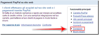 creare bottone donate paypal blogger