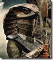 Un «guerrero Jaffa» de «Stargate», con la conocida indumentaria inspirada en el antiguo Egipto (o habría que decir al revés)