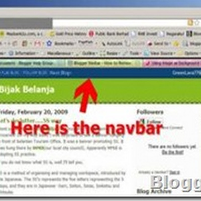 How to remove or restore Blogger navbar