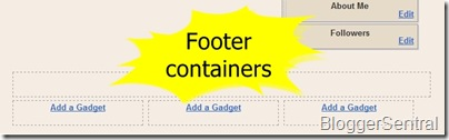 footer container