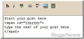 """Blogger """"read more"""" without the bug"""
