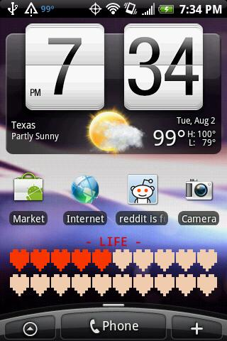 Battery Health Bar Widget - screenshot
