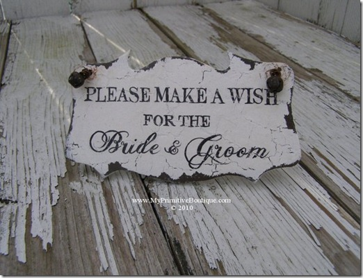 make a wish. vintage signs