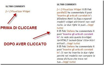 widget nascosti in blogger