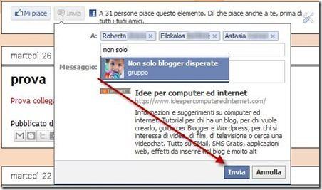 amici facebook pulsante invia plugin send