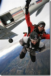 Steve leaping from 15,000 feet