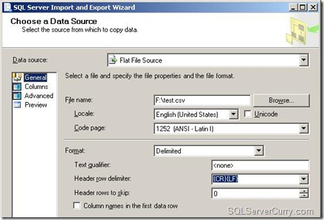 ssms data source