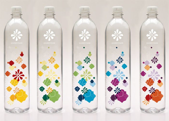 glorypark water bottles concepts on packaging of the world