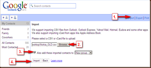 Google_Import CSV to Contact