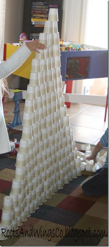 summer activity cup tower a