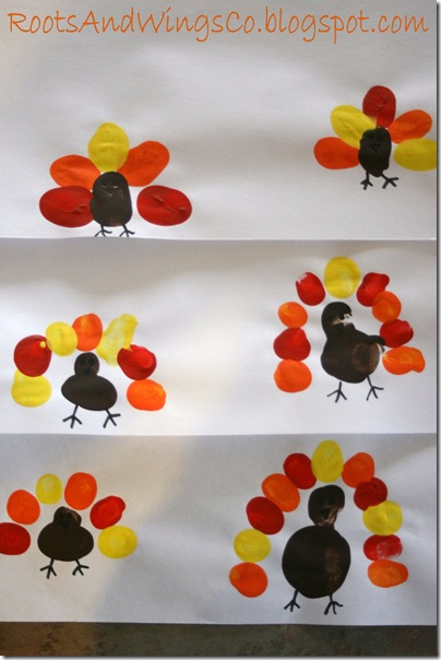 thanksgiving finger painting preschool activity b