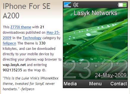 Temas Free K750i Download Sony Descargar Ericsson