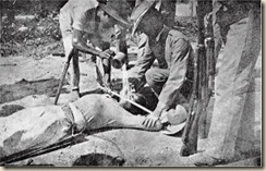 "A picture of a ""water detail,"" reportedly taken in May, 1901, in Sual, the Philippines. ""It is a terrible torture,"" one soldier wrote."