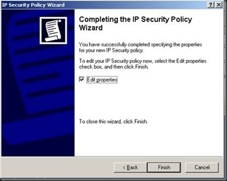 server security policy