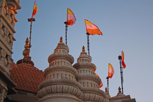 Swaminarayan Temple in Dwarka - Temple-Tops View