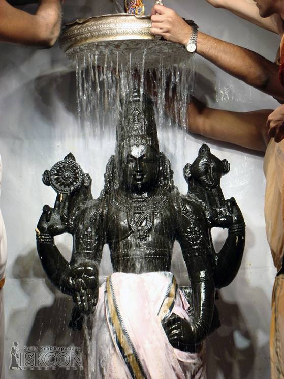Bathing Lord Balaji with Water - Photo 3