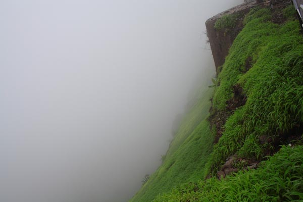 Another View of Steep Fall from Sinhagad