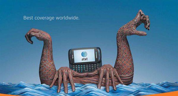 23 creative ads by AT&T [hand-modelling advertisements] - Ship