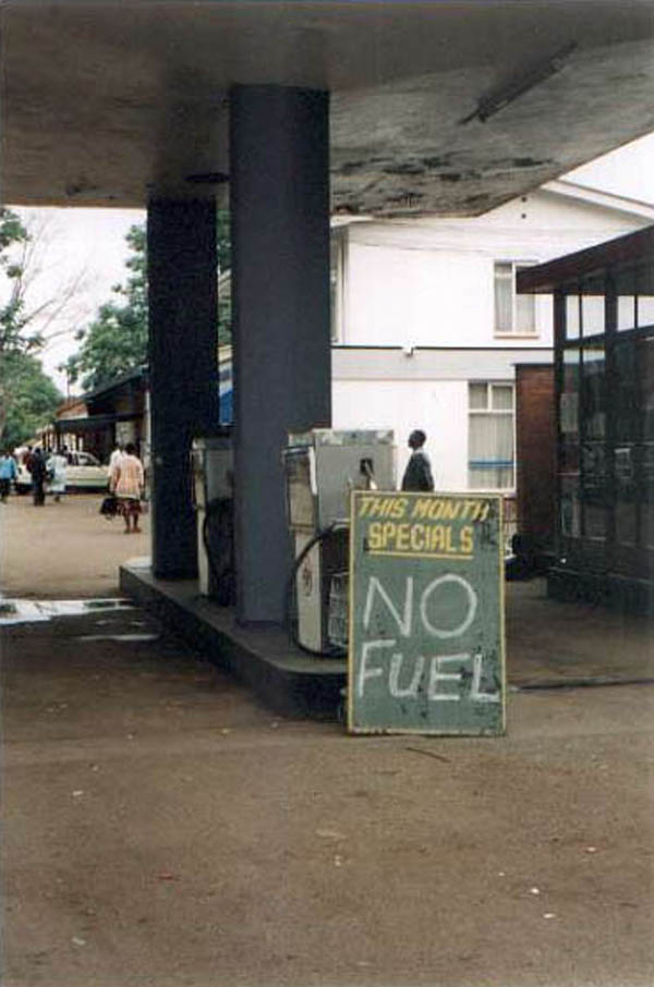 Weekend Fun - Funny things of Africa - This month's special - No fuel