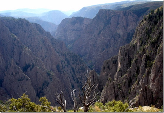 black Canyon view from Tomichi Point