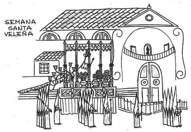 Semana Santa Sevilla Colorear: DIBUJOS DE PROCESIONES Y PASOS DE SEMANA SANTA