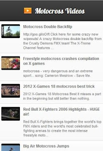 Motocross Videos - screenshot thumbnail