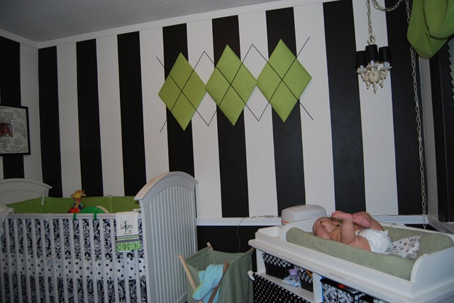 Terri Created This Adorable Black White Nursery With Green Accents For Her Little Guy