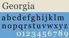 Popular Web Fonts Used in Web-Safe Design Georgia