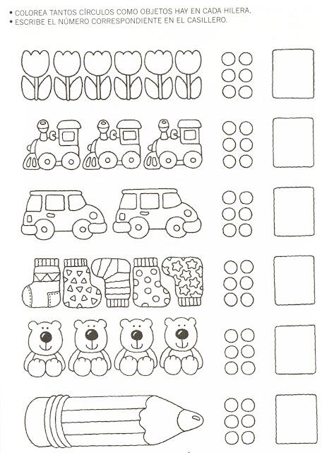 Laminas Aprender Numeros Y Colorear