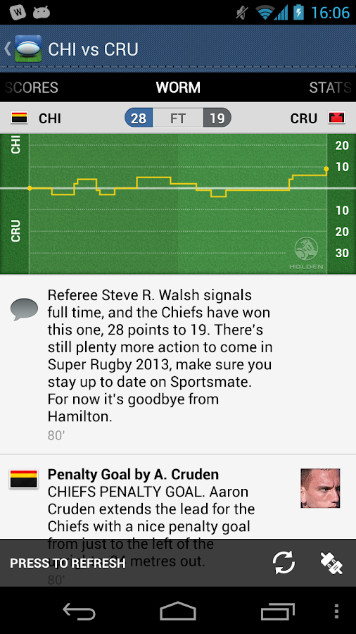 Super XV - Super Rugby Live - screenshot