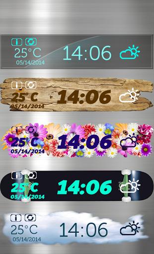 时钟和天气小工具